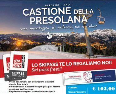 Skipass free Presolana Monte Pora