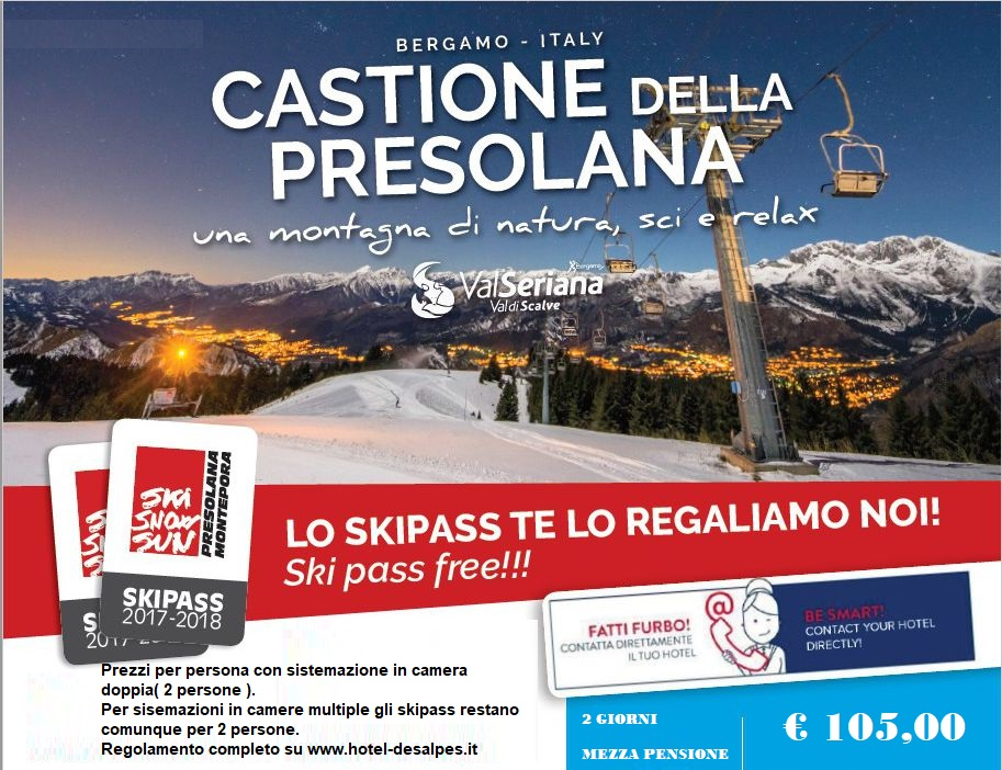 skiopass Presolana Monte Pora free